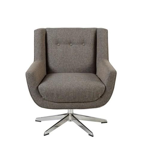Nina Swivel Lounge Star Based Chair Brown - image 1 of 4