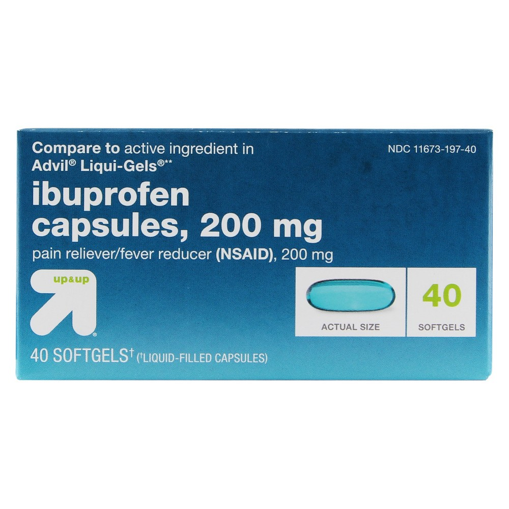 Ibuprofen (Nsaid) Pain Reliever & Fever Reducer Softgels - 40ct - Up&Up (Compare to active ingredient in Advil Liqui-Gels)