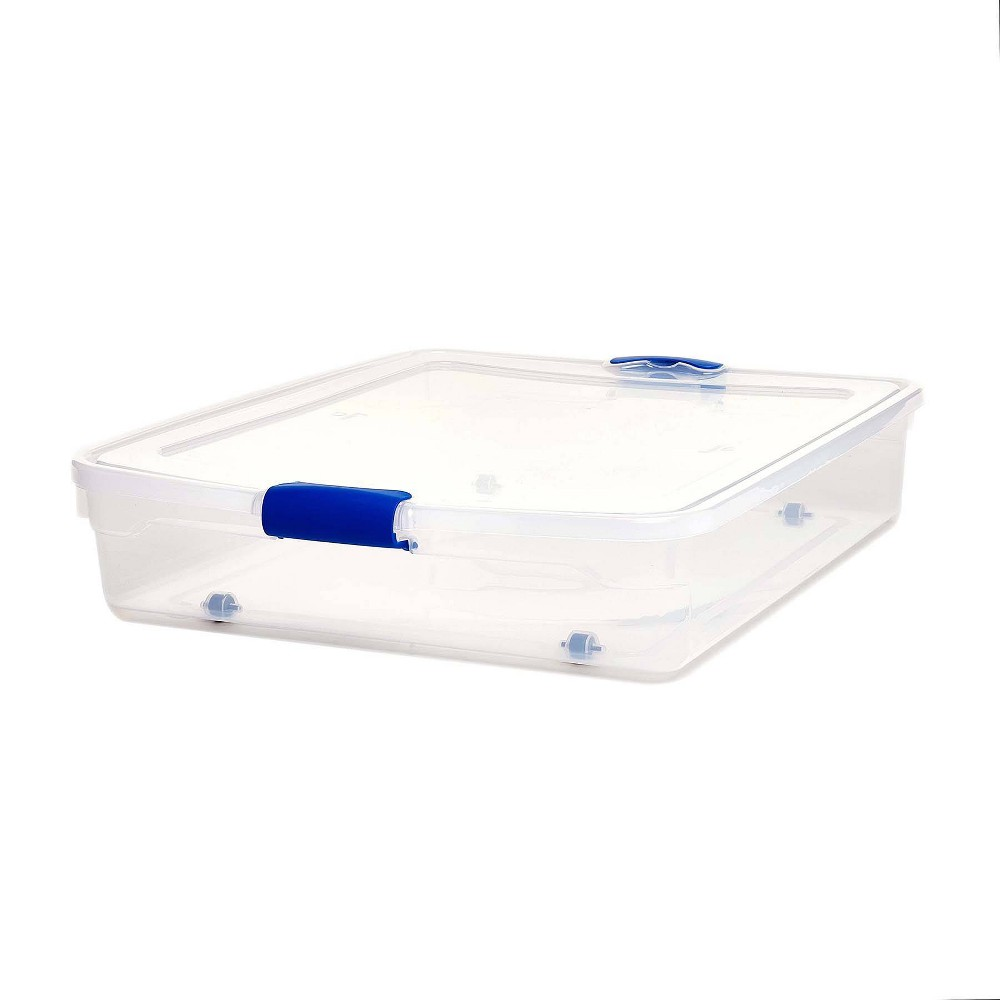 Image of 2pk 56qt Under-Bed Modular Latching Clear Storage Bin - Homz
