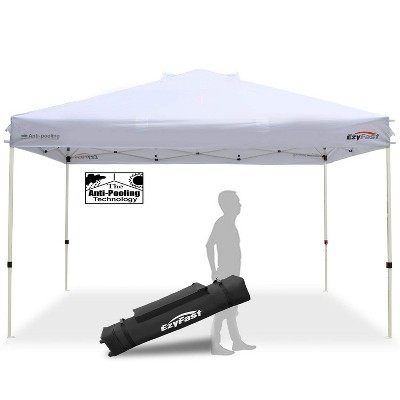 EzyFast 14 x 10 Foot Large Outdoor Waterproof Pop Up Canopy for Rain or Shine w/ Carry Bag, White
