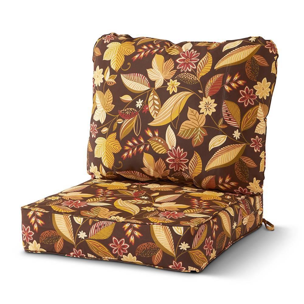 Image of 2pc Outdoor Deep Seat Cushion Set Timberland Floral - Kensington Garden