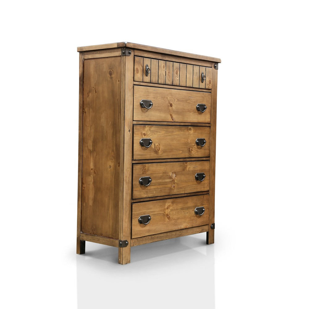 Sun & Pine Rosia Country Inspired Chest - Weathered Elm