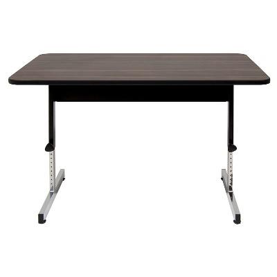 """47.5"""" Canvas & Color Adjustable All Purpose Desk Black/Walnut - Calico Designs"""