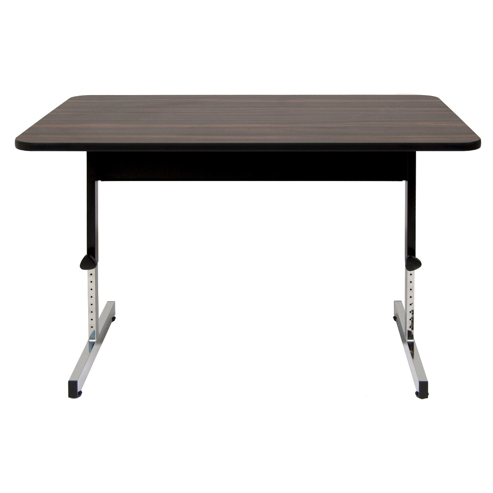 "Image of ""47.5"""" Canvas & Color Adjustable All Purpose Desk Black/Walnut - Calico Designs, Gray Black"""