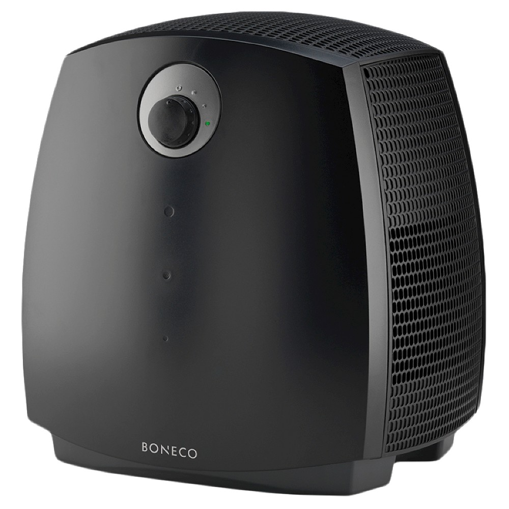 Boneco Air Washer Humidifier 2055A, Black The Boneco / Air-O-Swiss 2055A Air Washer is a 2 in 1 humidifier and purifier which washes and humidifies a room's air without evaporator mats. Special humidifier discs turn through the water removing impurities from the air naturally, which gives great relief to allergy sufferers. The discs which never need replacing, have a great adhesion for water to guarantee high humidity output and the 2055A automatically switches off when the water base is empty. Color: Black. Age Group: Adult.