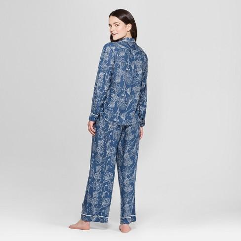 53b685473e12 Women s Tencel Notch Collar Pajama Set - Gilligan   O Malley™ Blue Tropical