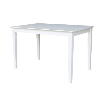 """Solid Wood 30 X 48"""" Dining Table White - International Concepts"""