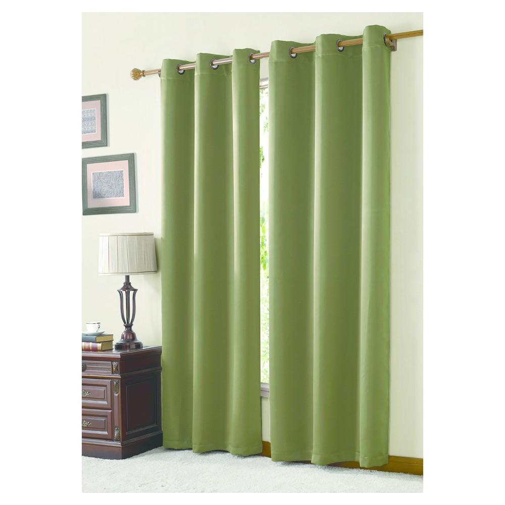 McKenzie Twill Blackout Curtain Panel Moss (42