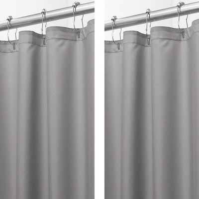 mDesign Water Repellent Shower Curtain/Liner, 2 Pack
