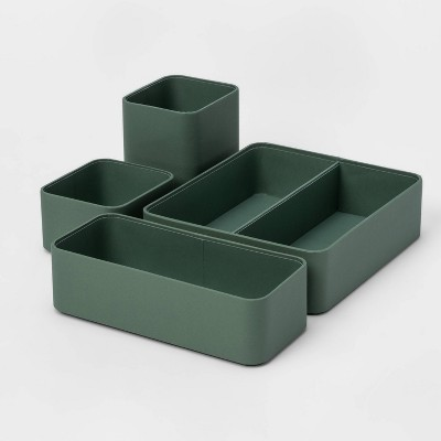 4pc Modular Desktop Organizer Set Green - Project 62™