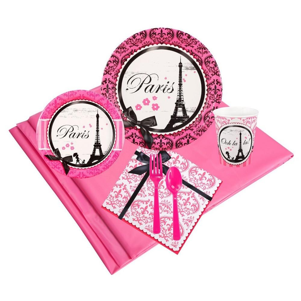 Paris Damask 24 Guest Pink Party Pack