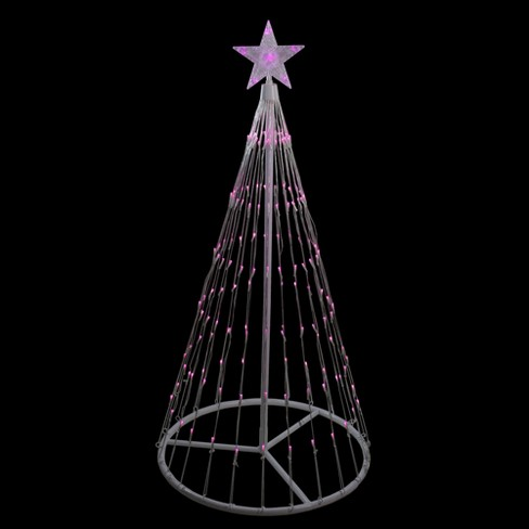 Northlight 4 Pink Led Lighted Show Cone Christmas Tree Outdoor Decoration