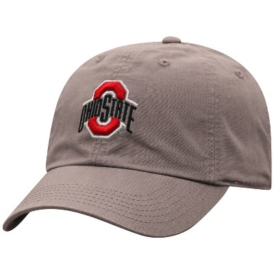 NCAA Ohio State Buckeyes Men's Gray Garment Washed Canvas Hat