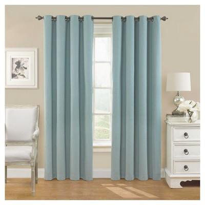 52 x63  Nadya Solid Blackout Curtain Panel Smokey Blue - Eclipse