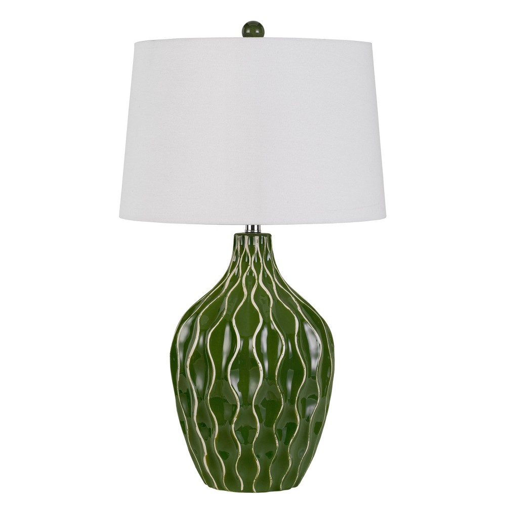 Image of 150W 3 Way Andria Ceramic Table Lamp - Cal Lighting