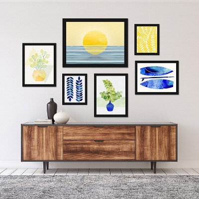 Americanflat Modern Tropical 6 Piece Framed Gallery Wall Set-2 by Modern Tropical