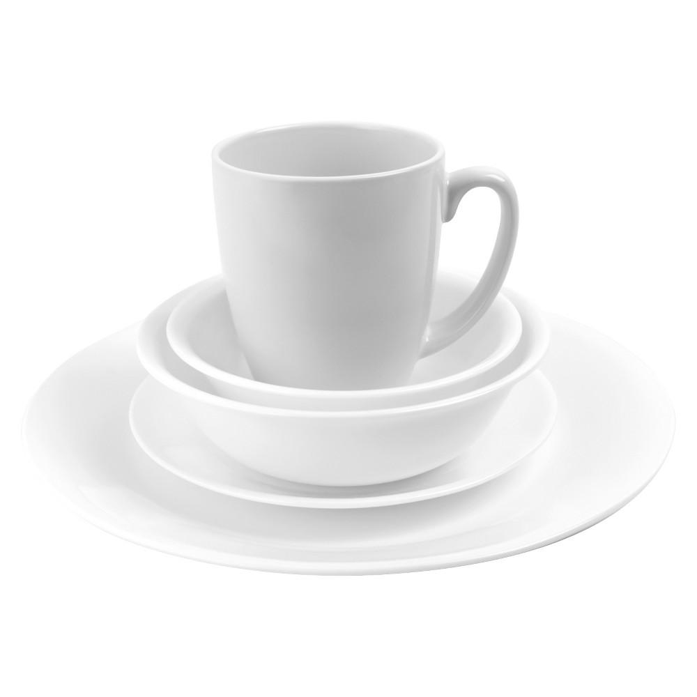 Image of Corelle 20pc Vitrelle Livingware Dinnerware Set Frost White