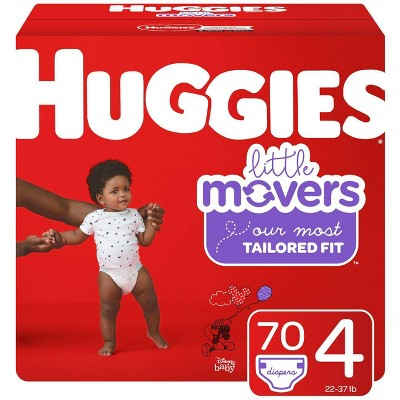 Huggies Little Movers Diapers Super Pack - Size 4 (70ct)