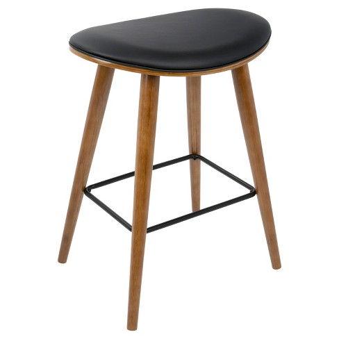 5538269defb2a Saddle 26 In Mid Century Modern Counter Stool (Set Of 2 ...