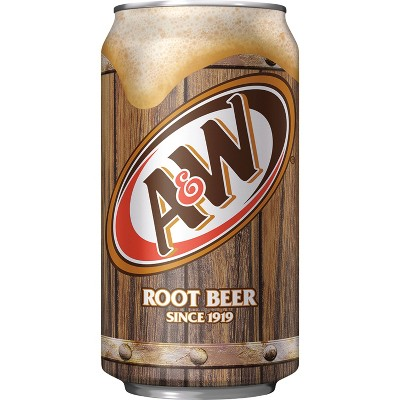 A&W Root Beer Soda - 12pk/12 fl oz Cans