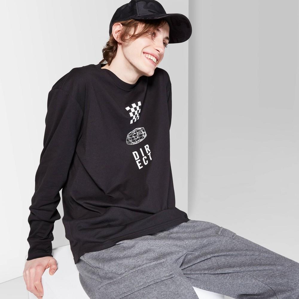 Men's Long Sleeve Graphic T-Shirt - Original Use Black S