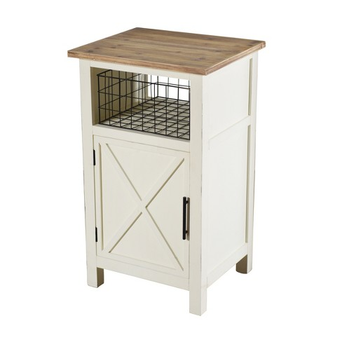 Quail Farm Single Door Side Table White Stylecraft Target
