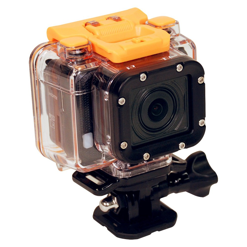 Hewlett Packard AC300 Action Cam with Lcd Watch Remote and Mounting Accessories - Black (Hpd-AC300W-VP)
