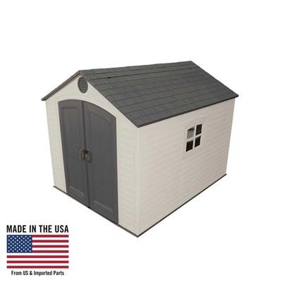 Storage Building Shed - 8' x 10' - Desert Sand - Lifetime