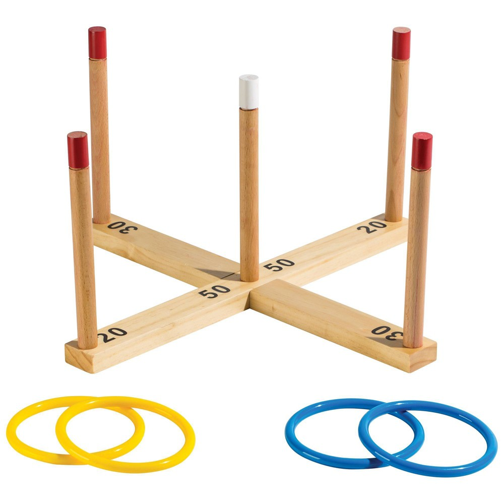 Image of Franklin Sports Wooden Ring Toss