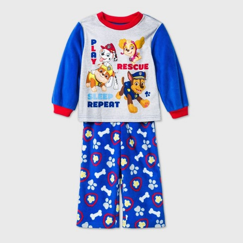 Toddler Boys' 2pc PAW Patrol Fleece Pajama Set - Blue - image 1 of 1