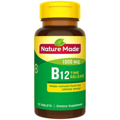 Vitamins & Supplements: Nature Made Time Release B12
