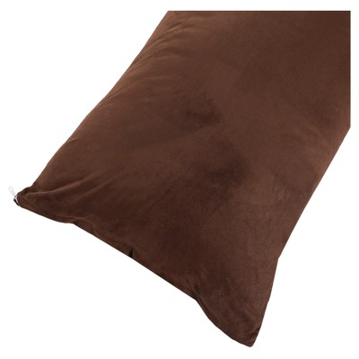 "Soft Microsuede Body Pillow Cover (51.5""x17"")Chocolate - Yorkshire Home"