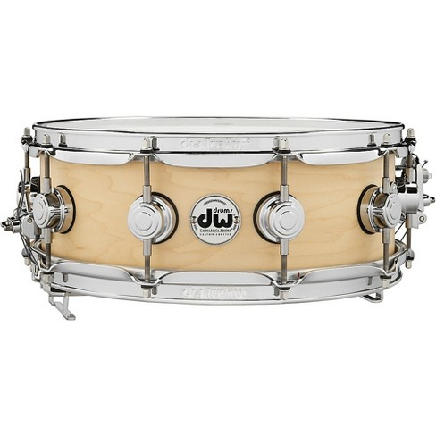 DW Pure Maple True-Sonic Snare Drum 14 x 5 in. Satin Natural - image 1 of 4