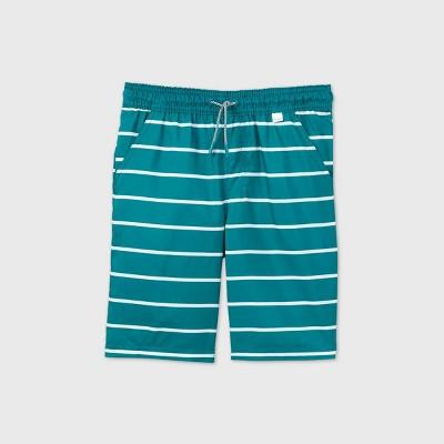 Boys' Striped Swim Trunks - Cat & Jack™ Green