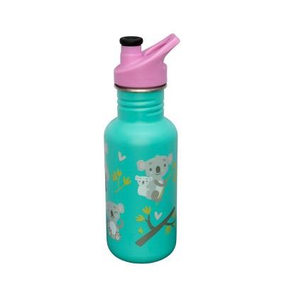 Klean Kanteen 18oz Classic Florida Keys Koala Hugs Stainless Steel Water Bottle with Sports Cap - Teal