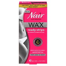 Nair™ Wax Ready Strips Hair Remover for Legs & Body - 40 ct