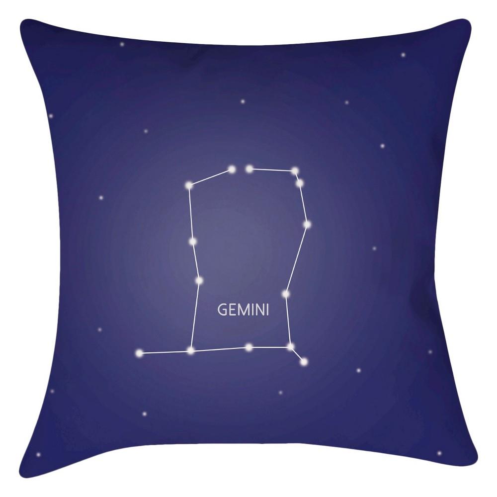 Navy Constellation Gemini Throw Pillow 16