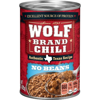 Wolf Plain Chili 15oz