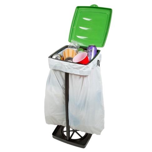 Wakeman Outdoors Portable Garbage Trash Bag Holder Green