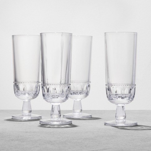 4pk Glass Goblet Tall - Hearth & Hand™ with Magnolia - image 1 of 2