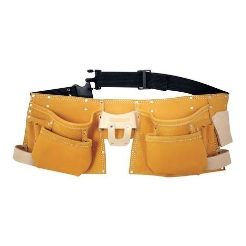 """WESTWARD 5MZL2 Carpenters Tool Apron w/Belt, Fits Up to 50"""", Leather - image 1 of 3"""
