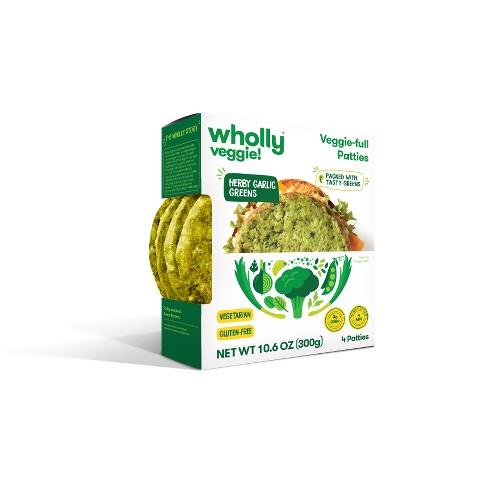 Wholly Veggie! Herby Garlic Greens Frozen Patties - 4pk - image 1 of 1
