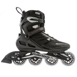 Rollerblade USA Zetrablade Mens Adult Size 12 Fitness Inline Skate, Black/Silver