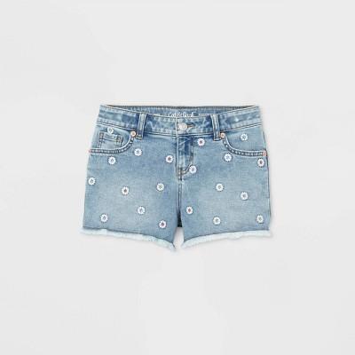 Girls' Daisy Jean Shorts - Cat & Jack™ Light Wash