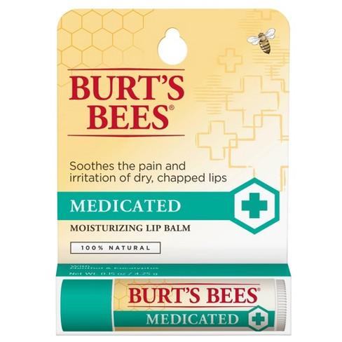 Burt's Bees Medicated Moisturizing Lip Balm - 0.15oz - image 1 of 3