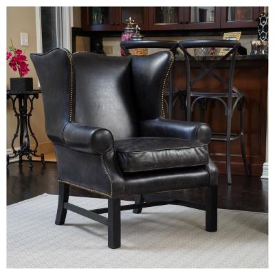 Kincaid Arm Chair   Black   Christopher Knight Home