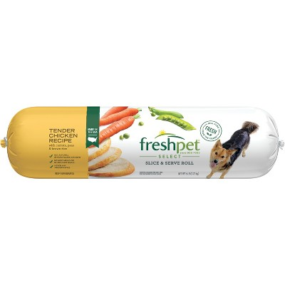 Freshpet Select Roll Tender Chicken Recipe Refrigerated Dog Food