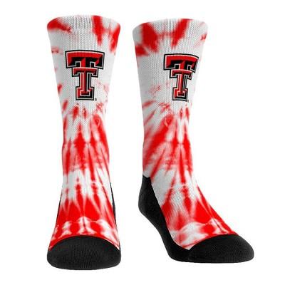 NCAA Texas Tech Red Raiders Adult Tie Dye Socks - L/XL
