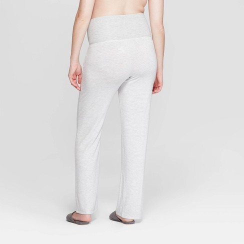 c9e5750b1b3aa Women s Striped Beautifully Soft Postpartum Pajama Pants - Stars Above™ Gray  XS   Target