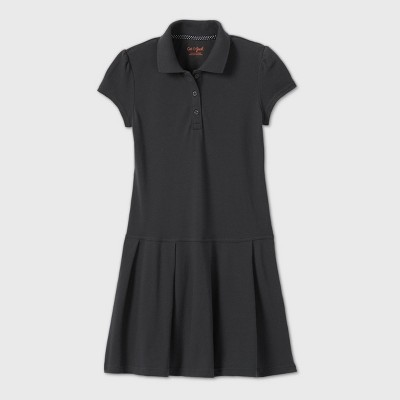 Girls' Short Sleeve Pleated Uniform Tennis Dress - Cat & Jack™ Gray